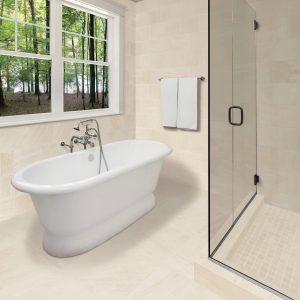 White Tiles of bathroom | Vic's Carpet & Flooring