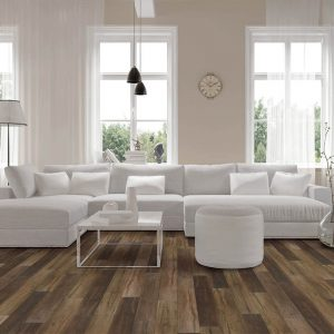 White sofa on Vinyl flooring | Vic's Carpet & Flooring