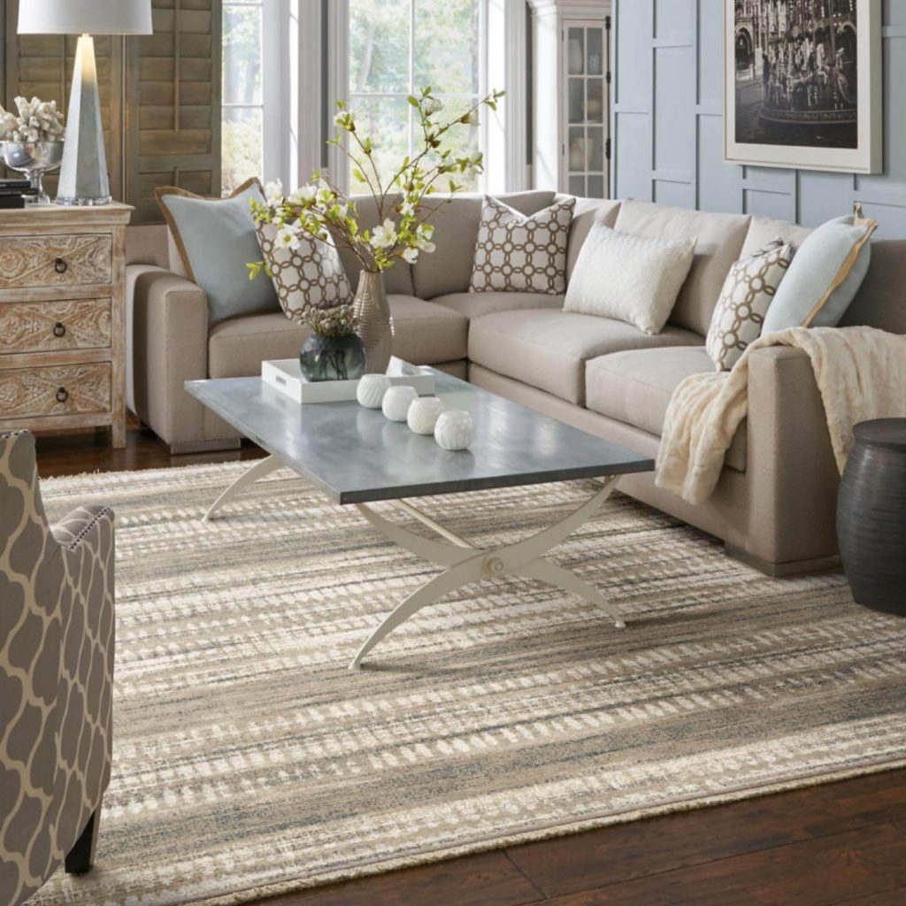Area Rug in living room | Vic's Carpet & Flooring