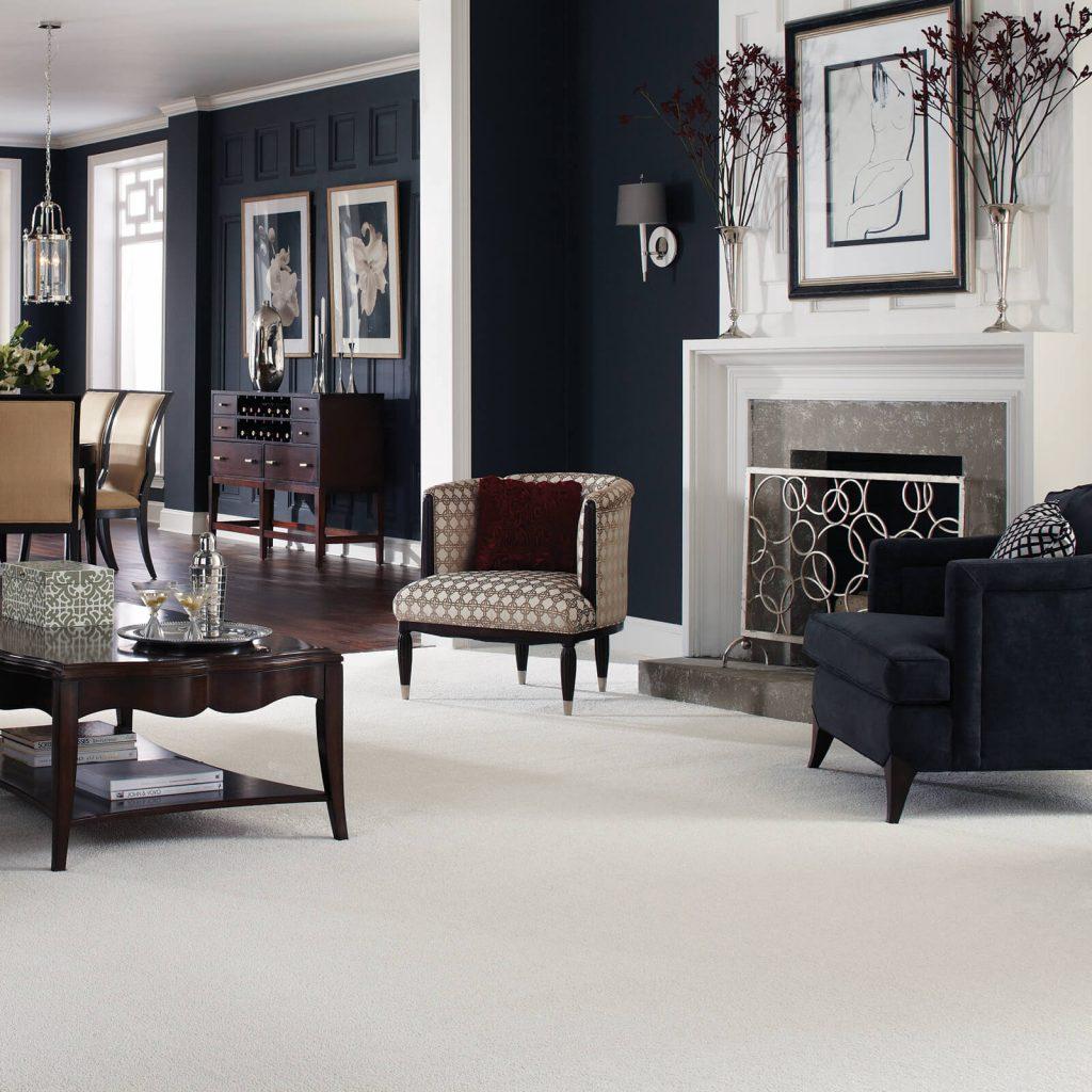 White Carpet in Living room | Vic's Carpet & Flooring