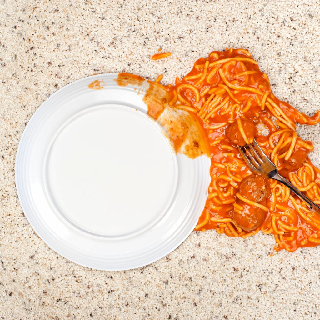 Spilled spaghetti on Carpet | Vic's Carpet & Flooring
