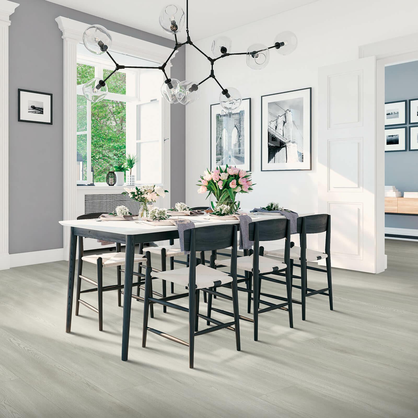 Dining room interior   Vic's Carpet & Flooring